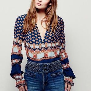Free People | Changing Times Mixed Print Tunic Top